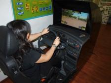 Учебный тренажер в центральной автошколе г. Алматы